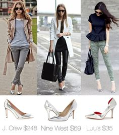 Trend to Try: Silver pumps