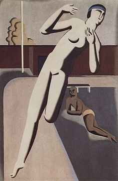 Female Runner II, 1925 by Willi Baumeister Harlem Renaissance, Ludwig Meidner, Oil On Canvas, Canvas Art, Female Runner, Magic Realism, 1920s Art, Art Deco Design, Cubism