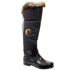 Clarrisa by Santana Canada  Metallic Nylon, Microfleece, Faux Fur Trim, Made in Romania    http://santanacanada.com/products/rainy-day-collection/
