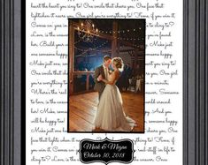 First dance wedding gift first dance wedding song lyrics personalized gift wife husband love quotes valentines day Christmas Wedding Gift To Husband, Anniversary Gifts For Husband, Wedding Anniversary Gifts, Wedding Gifts, Anniversary Ideas, Anniversary Pictures, Anniversary Quotes, Happy Anniversary, First Dance Wedding Songs