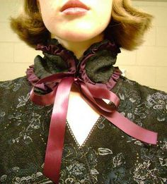 little neo-victorian scarf -- a bit img heavy - CLOTHING- Knitting, sewing, crochet, tutorials, children crafts, papercraft, jewlery, needlework, swaps, cooking and so much more on Craftster.org steampunk craft, child crafts, children craft