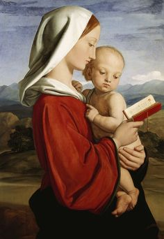 The Madonna and Child // 1845 // William Dyce // Royal Collection Trust (UK) // Mary and Jesus Madonna Und Kind, Madonna And Child, Blessed Mother Mary, Blessed Virgin Mary, The Queen's Gallery, Queen Of Heaven, Jesus Christus, Mary And Jesus, Holy Mary
