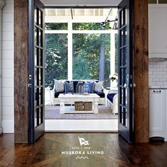 "Coastal Muskoka Living Interior Design Ideas - ""French Doors to Screened Patio"""