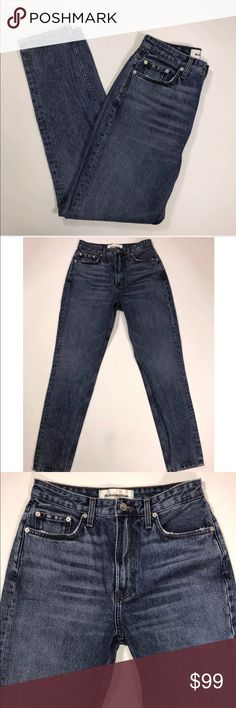 Reformation Jeans high rise cigarette size 28 Reformation Jeans high rise cigarette style in size 28 - Measurements - All measurements are taken with items laying flat :  14.5' Waist  12' Rise 30' Inseam   Excellent Used Condition - No holes, rips, stains, or other noticeable signs of wear. Reformation Jeans Skinny