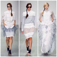 Spring Summer 2015 designer #crochet #fashion from Bora Aksu via @Fknitwear