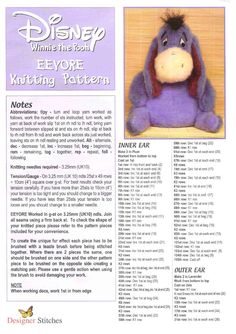 Knit winnie the pooh eeyore by FREE Magazine Inside