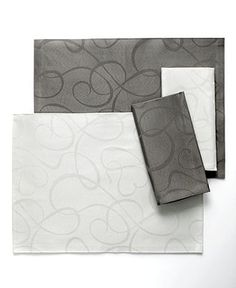 Mikasa Table Linens, Love Story Placemat and Napkin Collection - Table Linens - Dining & Entertaining - Macy's