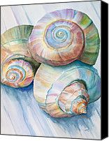 Balance In Spirals Watercolor Painting Painting by Michelle Wiarda - Balance In Spirals Watercolor Painting Fine Art Prints and Posters for Sale