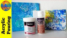 Acrylic Pouring on Ceramic Tiles: Prepare and Create [Gesso vs Adhesion ...