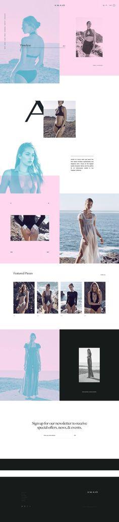 AMAIO - Mindsparkle Mag - AMAIÒ is a luxury swim and resort label reflecting a sense of iconic sophistication and elegance. Layout Design, Web Layout, Book Design, Website Design Inspiration, Graphic Design Inspiration, Creative Inspiration, Site Vitrine, Design Poster, Print Design