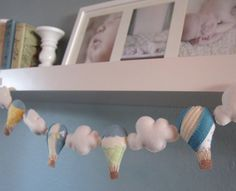 Hot air balloon felt garland