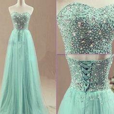 Custom Made 2016 Sweet Long Prom Dresses Women Evening Dresses Long Party Dresses Green Sheer Dress
