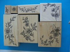 Toile Blossoms  Set of 7 Stampin Up