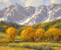 """Dan Young, """"At the Peak"""", 10"""" x 12"""" Oil"""