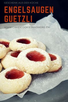 Engelsaugen Gueztli - Cakes, Cookies and Christmas Baking, Christmas Cookies, World Recipes, Cake Cookies, Doughnut, Cookie Recipes, Good Food, Xmas, Favorite Recipes