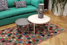 One of our Emily's House London rugs in the London HAY and WRONG for HAY showroom