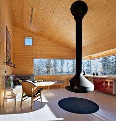 Sekskantet hytte med panoramautsikt   Bo-bedre.no