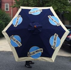 Blue Moon Belgium Ale Beer Pool Beach Patio Umbrella Large 7 U0027 Tall New In  Box