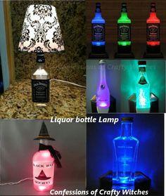 Liquor bottle lamp #BottleLamp