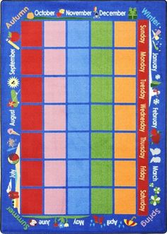Classroom Carpet Rug. Celebrations Calendar™   1627 From Honor Roll  Childcare Supply.