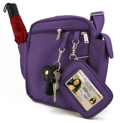 DayMakers BeSafeBagsTM Security 7-Pocket Vertical with Organizer: Handbags: Amazon.com