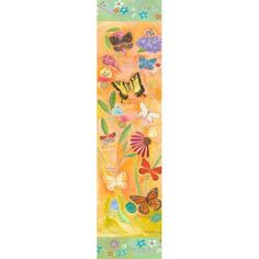 Oopsy Daisy - Exotic Butterflies Canvas Wall Art 12x48, Donna Ingemanson