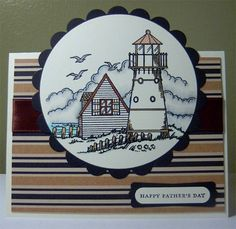 Happy Father's Day Card- Lighthouse
