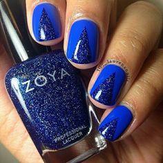 Blue glitter nails #blue #nails