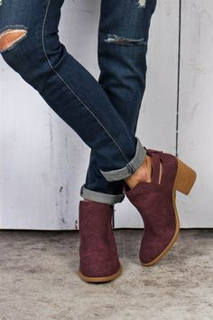 Perforated Booties | 3 Colors