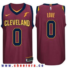 1fe5c68c4 Nike NBA Cleveland Cavaliers  0 Kevin Love Jersey 2017 18 New Season Wine  Red Jersey