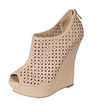 eyelet cut out wedge