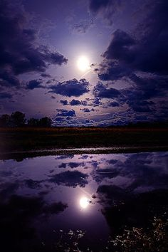 ~~Moonshine ~ a violet moonlit night, Wisconsin by Phil~Koch~~