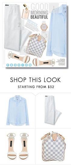 """""""Beautiful Fashion"""" by myfashionwardrobestyle ❤ liked on Polyvore featuring Frank & Eileen, Lands' End, Forever New and Louis Vuitton"""