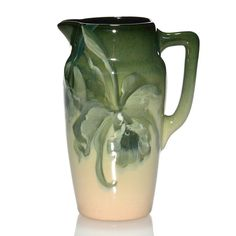 Weller Eocean pitcher, orchids, 6 7/8 inches