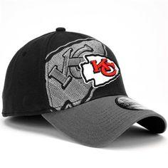 New Era Kansas City Chiefs 39Thirty Classic Flex Hat - Black 66bb426e4