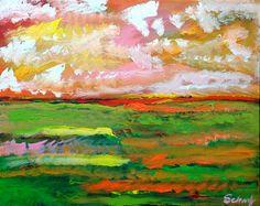 impressionist #art #landscape #cloudy skies #horizon