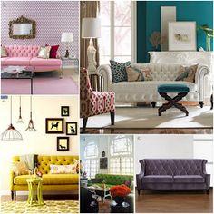 {The Ardent Sparrow}: Monday Design Inspiration: A Tufted Sofa