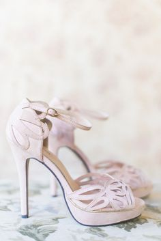 Blush pink cut out wedding shoes: Photography: Louise Vorster - http://www.louisevorsterphotography.co.za/