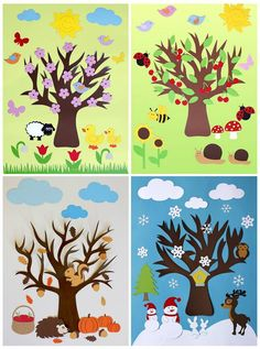 Season art activities for preschool Decoration Creche, Class Decoration, School Decorations, Projects For Kids, Art Projects, Crafts For Kids, Arts And Crafts, Paper Crafts, Preschool Crafts