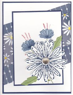 I saw this card on a fellow Demo's blog, Dawn Olchefske. I loved it and had to borrow her design. I think we've had enough daisys for a whil...