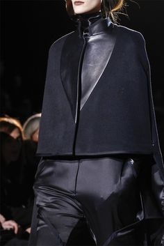 I really like this. It's like a short but very chic poncho.   GIVENCHY | FW 2012-13