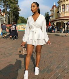 dresses and sneakers outfit black girl Dress And Sneakers Outfit, Dress Outfits, Girl Outfits, Fashion Outfits, Fashion Mode, Female Fashion, Street Fashion, Sneakers Fashion, Cute Swag Outfits