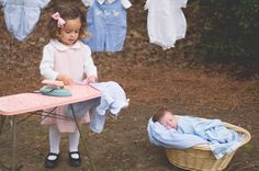 Ironing the laundry. Lifestyle shoot with children by Anna Satalino Photography.