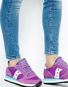 Image 4 of Saucony Jazz Original Purple/White Trainers