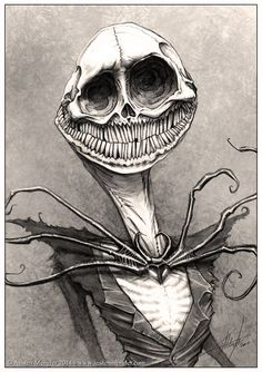 Reminds me of scary stories to tell in the dark. Jack Skellington by LordNetsua