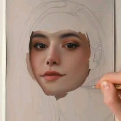 gorygul - 0 results for art Watercolor Portrait Tutorial, Watercolor Art Face, Watercolor Portraits, Watercolor Paintings, Cool Art Drawings, Realistic Drawings, Art Drawings Sketches, Girl Illustration Art, Arte Sketchbook