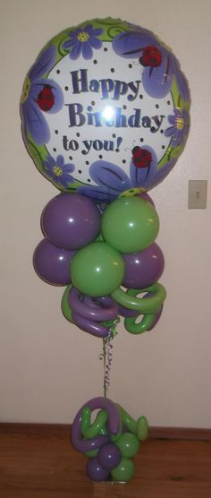 Birthday flowers budget balloon bouquet by http://www.balloonsandmoregifts.com/budget-balloon-bouquets/