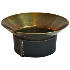 Lovely Brass & Leather Ashtray by Carl Aubock | From a unique collection of antique and modern ashtrays at http://www.1stdibs.com/furniture/dining-entertaining/ashtrays/