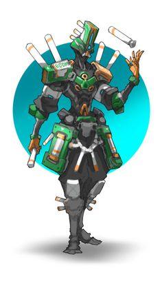 captain by mole wang on ArtStation. Character Creation, Character Concept, Character Art, Arte Ninja, Arte Robot, Mekka, Cool Robots, Robot Concept Art, Ex Machina