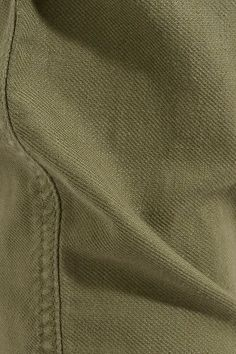 The Great - The Carpenter Cropped Twill Slim-leg Pants - Army green - 30